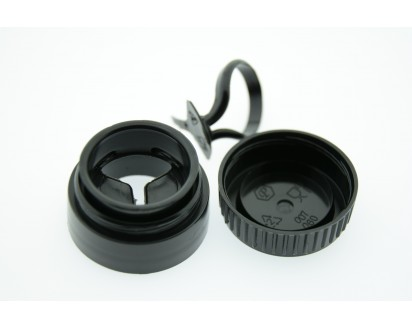 061 - 28 MM. İÇTEN YIRTMALI DOUBLE FLOW ÇAKMA PET VE CAM ŞİŞE KAPAĞI