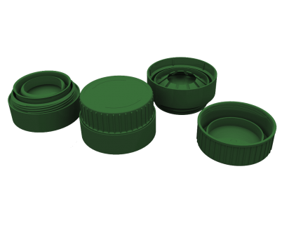 100 - 32 MM TWO PARTS SNAP-ON TEAR-OFF SEAL CAP FOR GLASS BOTTLES