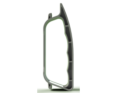 510 - 100MM SİNGLE PART SIDE HANDLE FOR PET BOTTLES